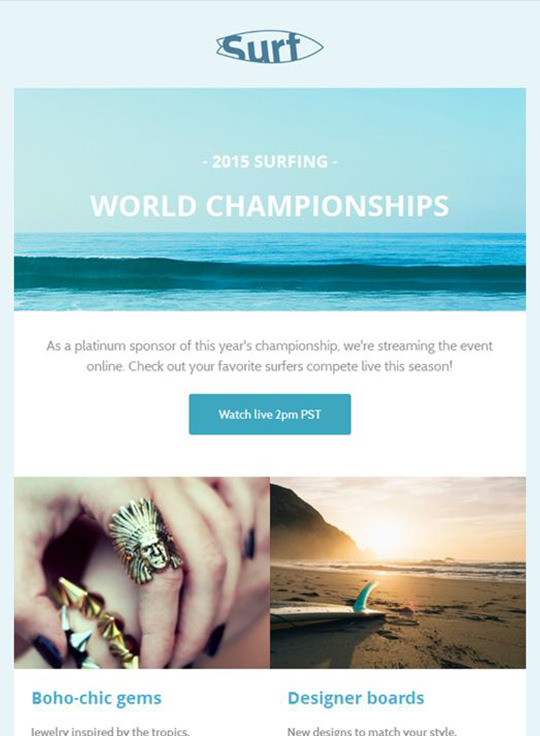 Email Template - Surf