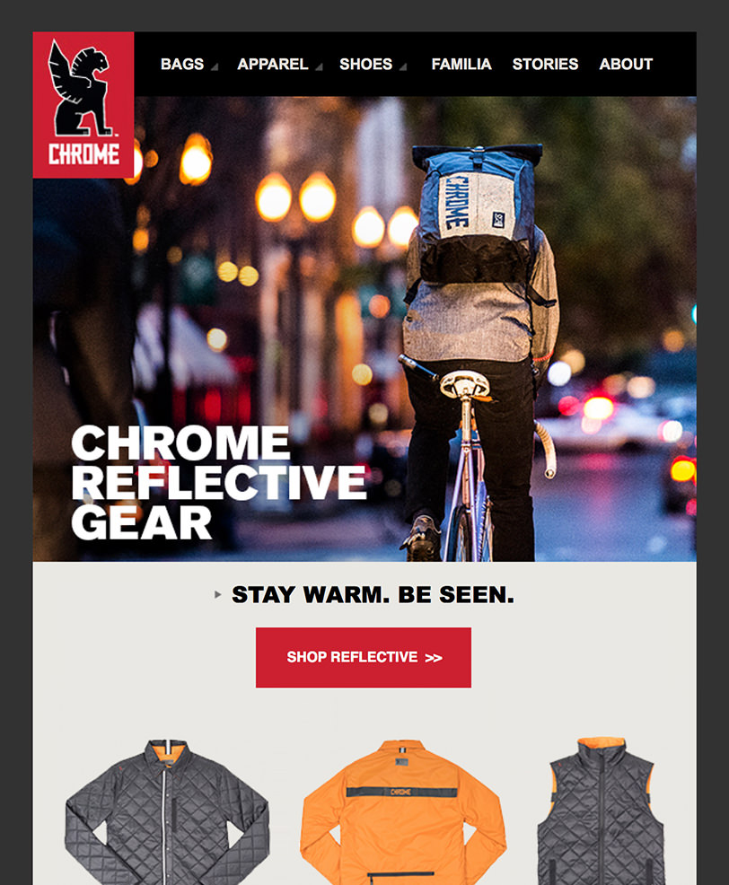 Email Marketing - Chrome Industries Email Newsletter