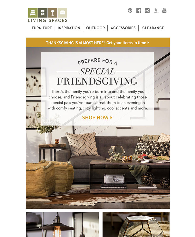 Email Marketing - Living Spaces Email Newsletter