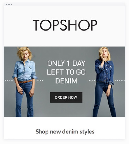 Email Marketing - Topshop Promotion Email