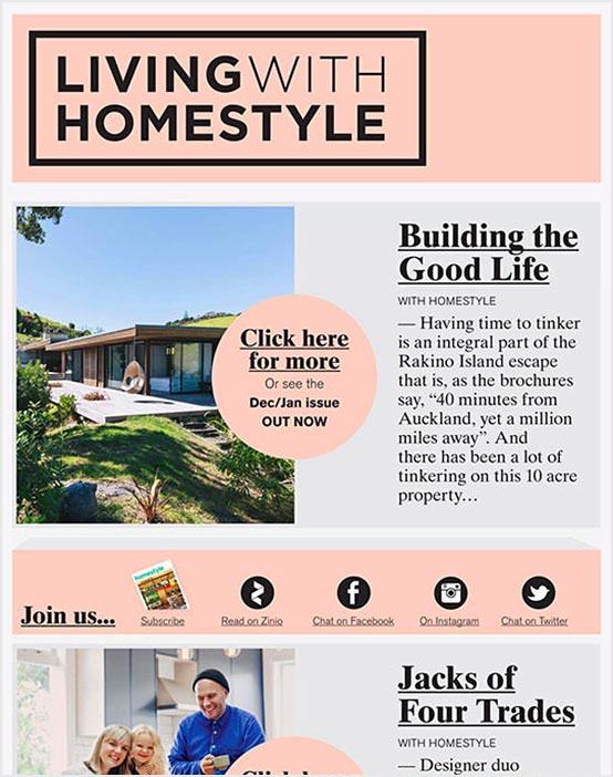 Email Marketing for Publishers - Homestyle Email