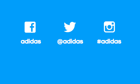 Adidas on Mobile - Social Sharing - Mobile Footer