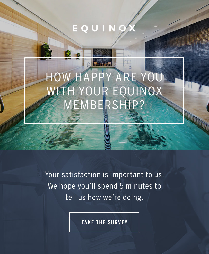 Email Marketing - Equinox Survey Email