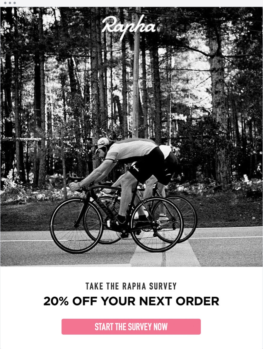 Email Marketing - Rapha Survey Email