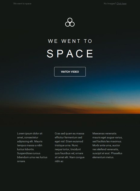 Email Template - Space