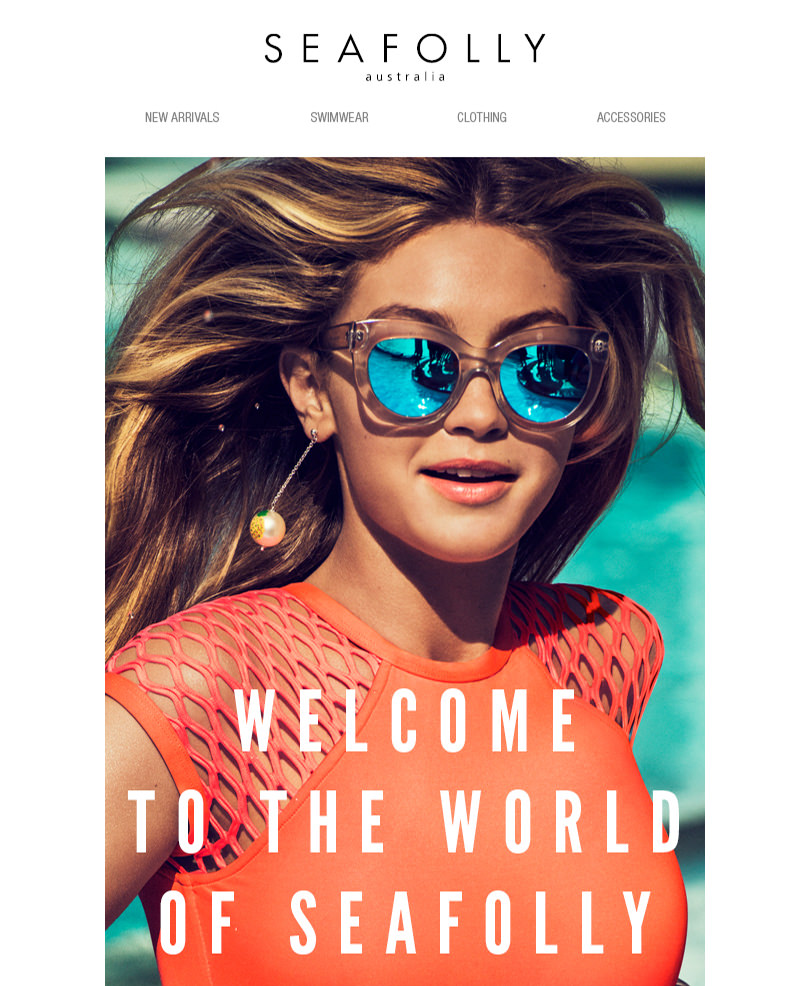 Email Marketing - Seafolly Welcome Email